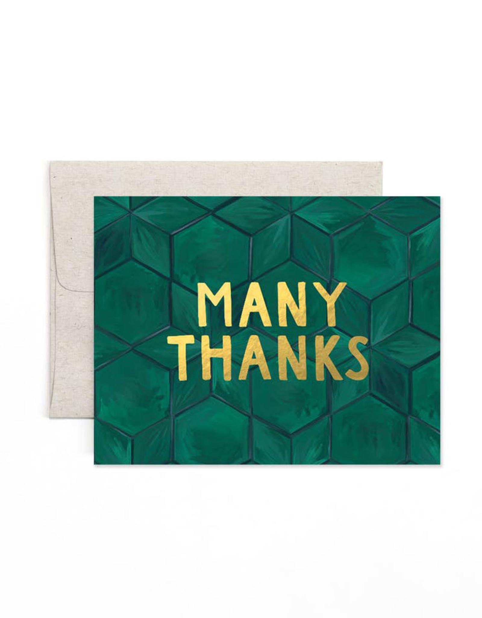 1canoe2 Green Tile Thanks Card