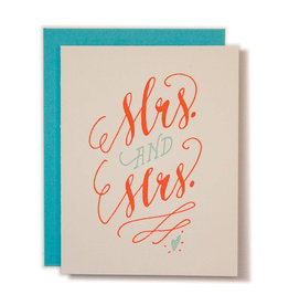 Ladyfingers Letterpress Mrs. & Mrs. Card