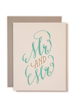 Ladyfingers Letterpress Mr. & Mr. Card
