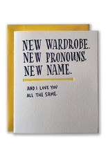 Ladyfingers Letterpress New Wardrobe Card