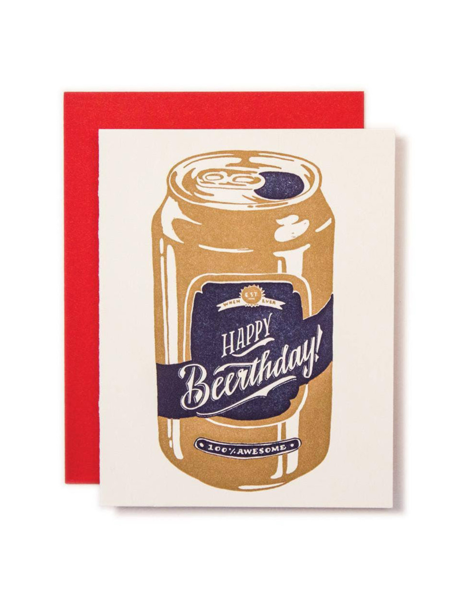 Ladyfingers Letterpress Happy Beerthday Card