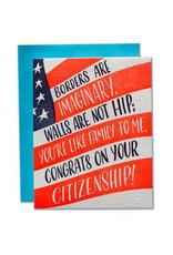 Ladyfingers Letterpress Citizenship Congrats Card