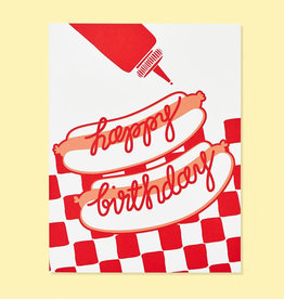 The Good Twin Hot Doggin Birthday Card