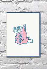 Bench Pressed Thumbs Up Card