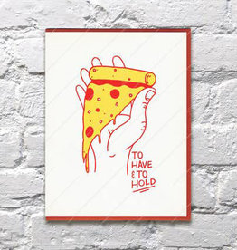 Bench Pressed Have & Hold Pizza Card