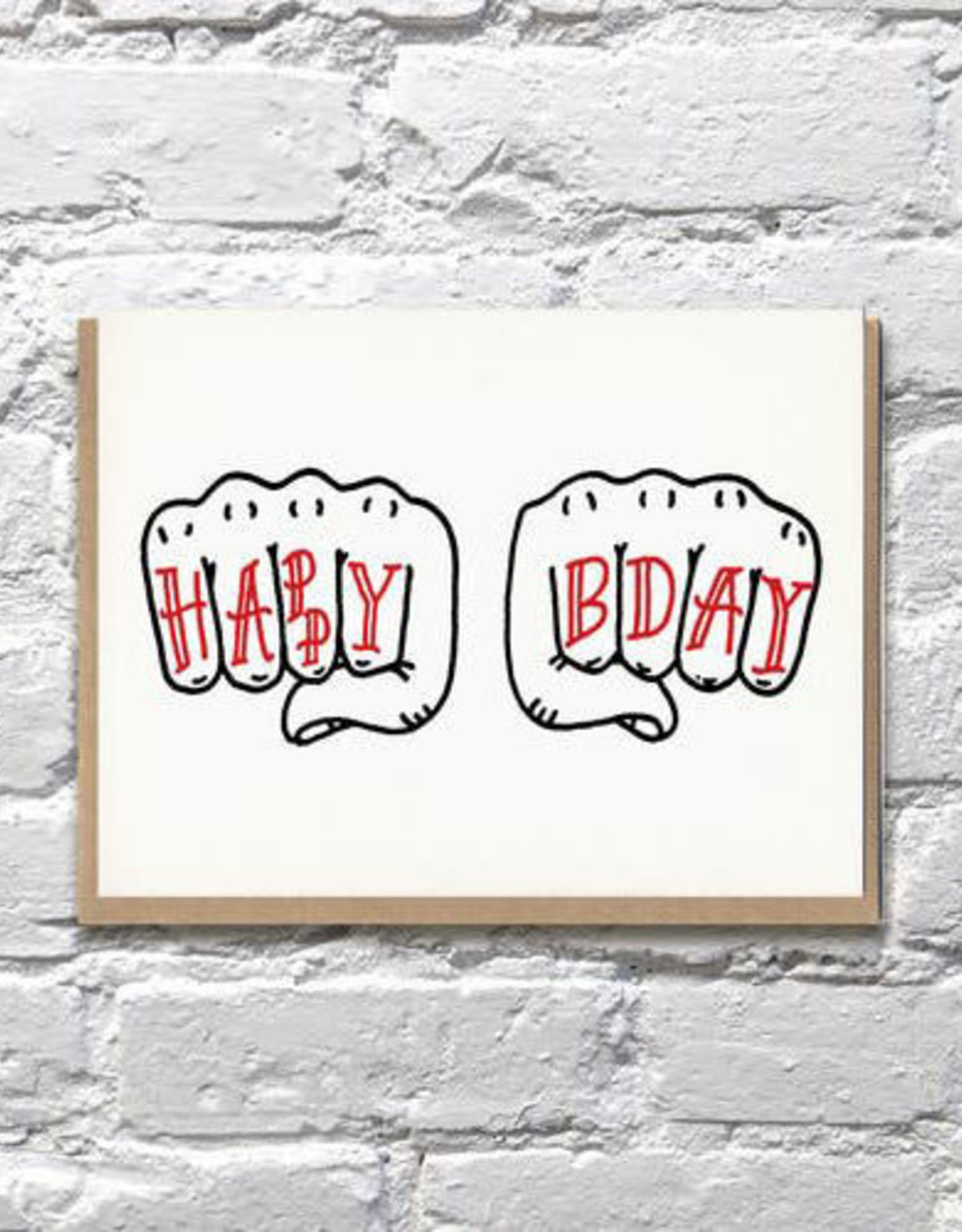 Bench Pressed Birthday Knuckles Card