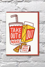 Bench Pressed Take Out Card