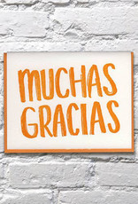 Bench Pressed Muchas Gracias Card