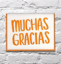 Bench Pressed Muchas Gracias Card