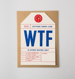 Igloo Letterpress WTF Tag Card