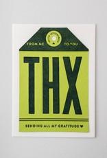 Igloo Letterpress THX Tag Card