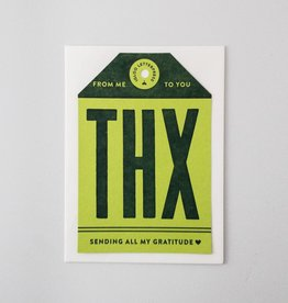Igloo Letterpress THX Tag Card