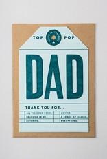 Igloo Letterpress Dad Tag Card