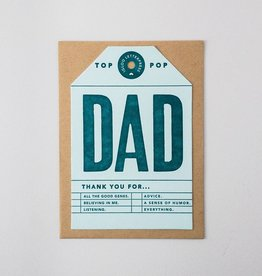 Igloo Letterpress Dad Tag Card