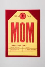 Igloo Letterpress Mom Tag Card