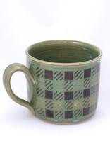 Pottery By Paula Plaid Mug