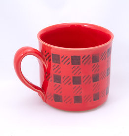 Pottery By Paula Plaid Mug