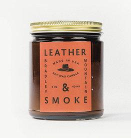 Bradley Mountain Leather & Smoke Candle