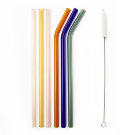 Kikkerland Reusable Glass Straws
