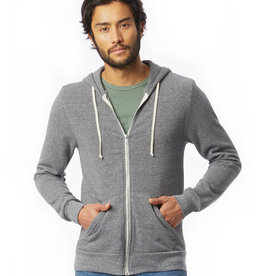 Alternative Apparel Rocky Eco-Fleece Zip Grey