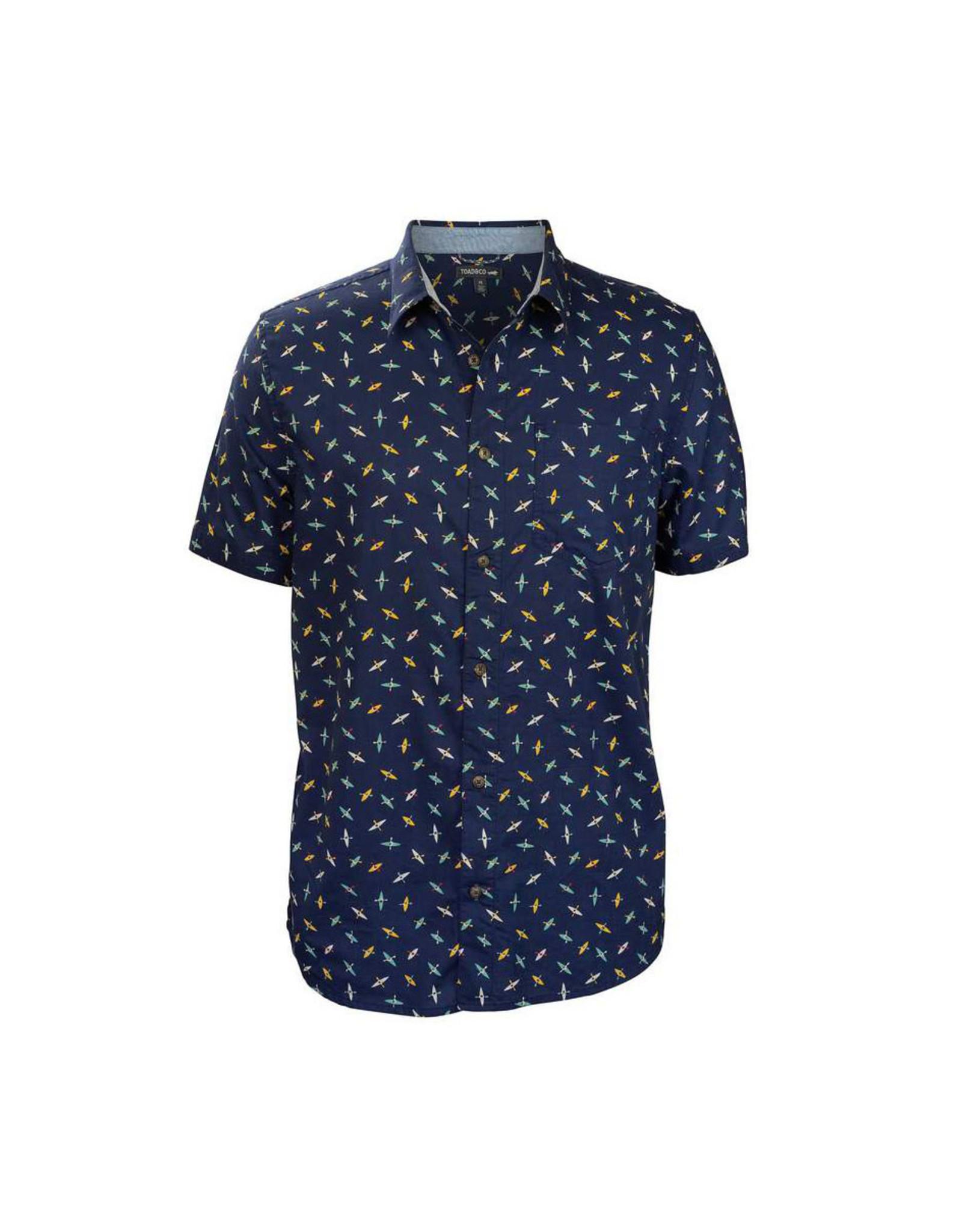 Toad & Co Fletch Shirt - Navy Kayak Print