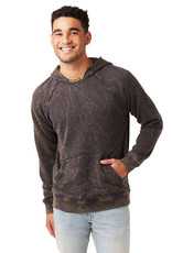 Alternative Apparel Crinkle Pullover Hoodie - Shadow
