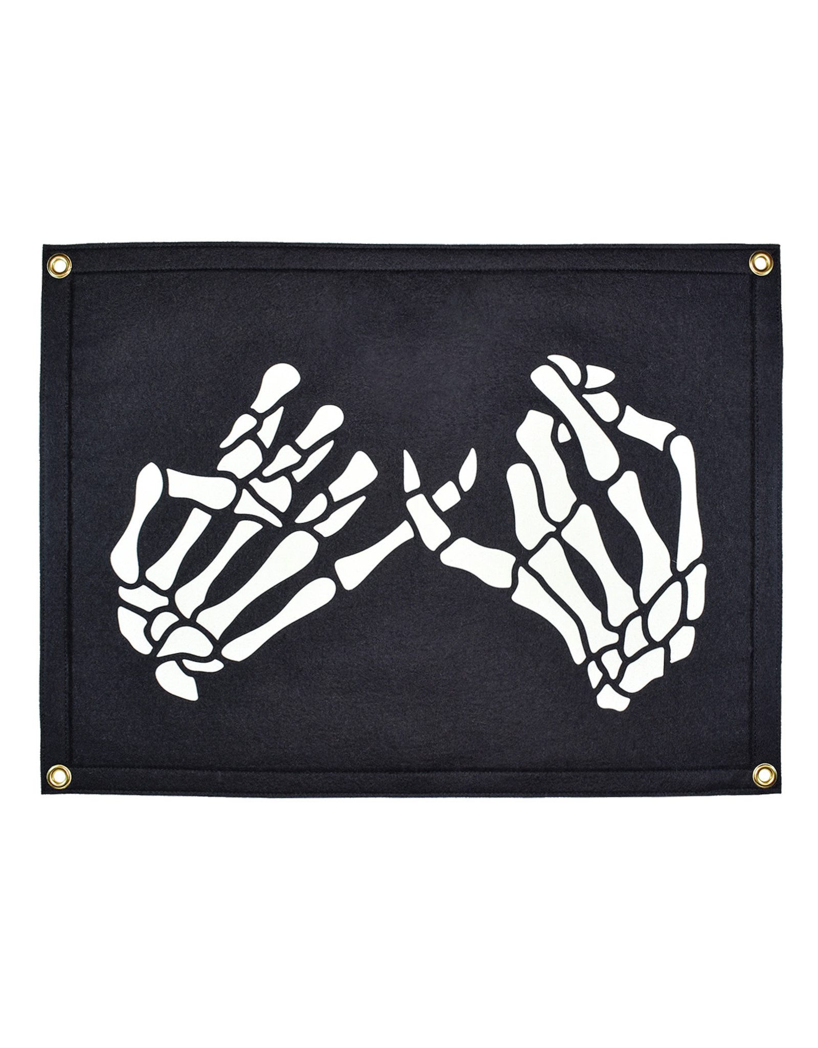 Oxford Pennant Skeleton Pinky Swear Camp Flag