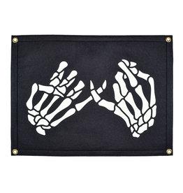 Oxford Pennant Skeleton Pinky Swear Camp Flag