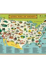 Cavallini National Parks Map Puzzle