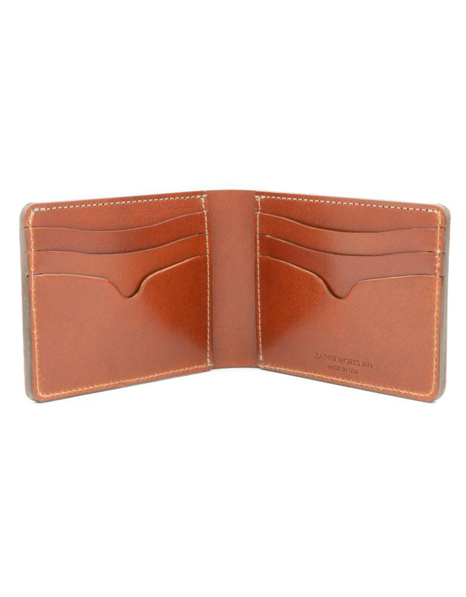 Leather Works Minnesota No. 9 Bifold Wallet Chestnut