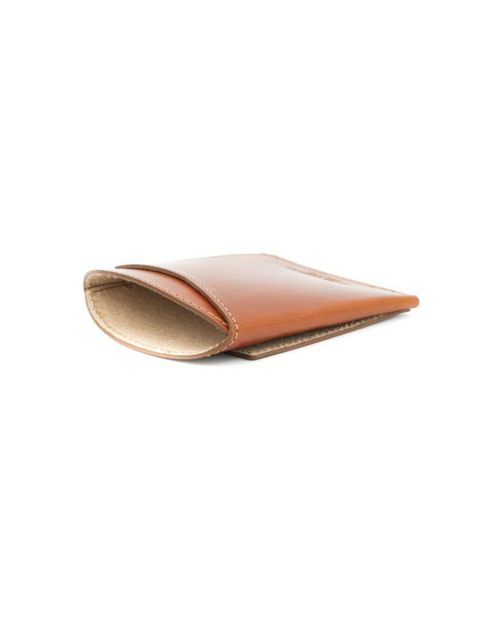 Leather Works Minnesota Front Pocket Flap Wallet Chestnut