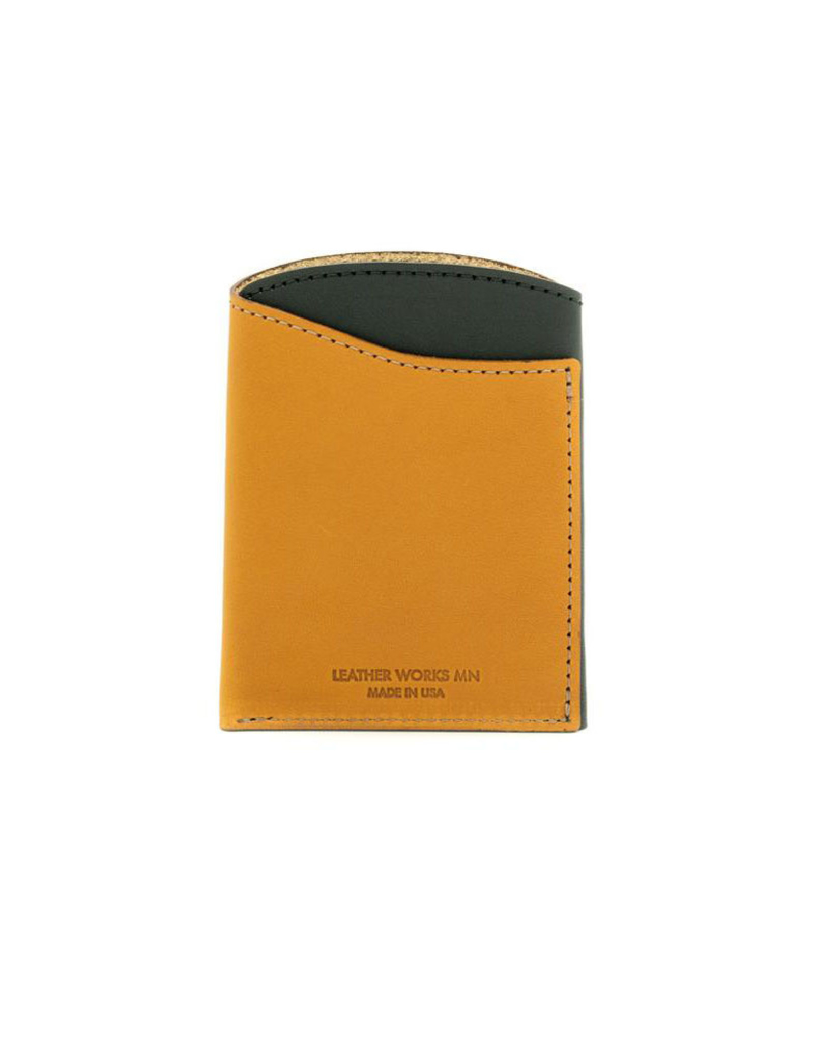 Leather Works Minnesota Font Pocket Flap Wallet Black & Tan