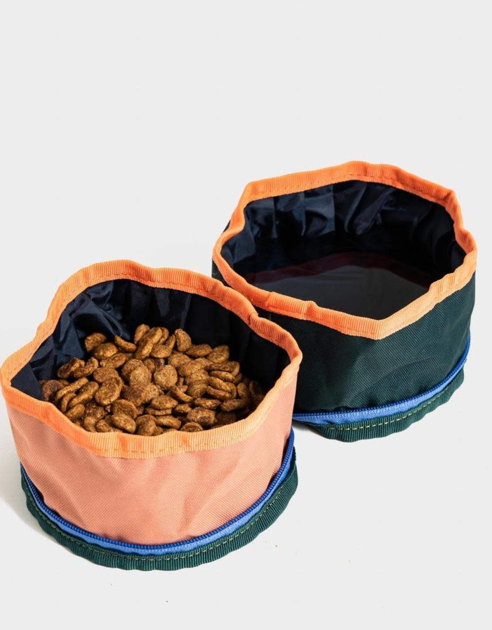 United By Blue Collapsible Double Dog Bowl - Salmon