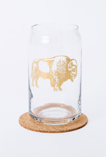 Counter Couture Bison Beer Can Glass