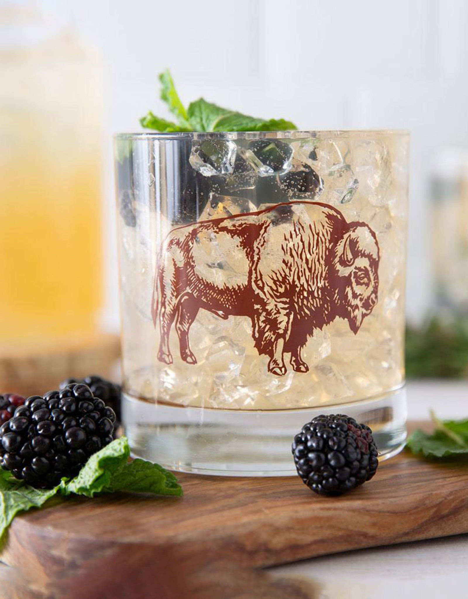 Counter Couture Bison Rocks Glass