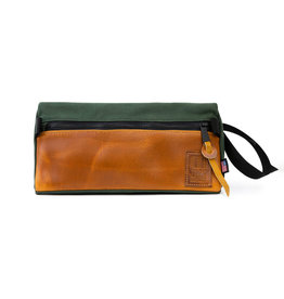Topo Dopp Kit Heritage Canvas - Olive/Leather