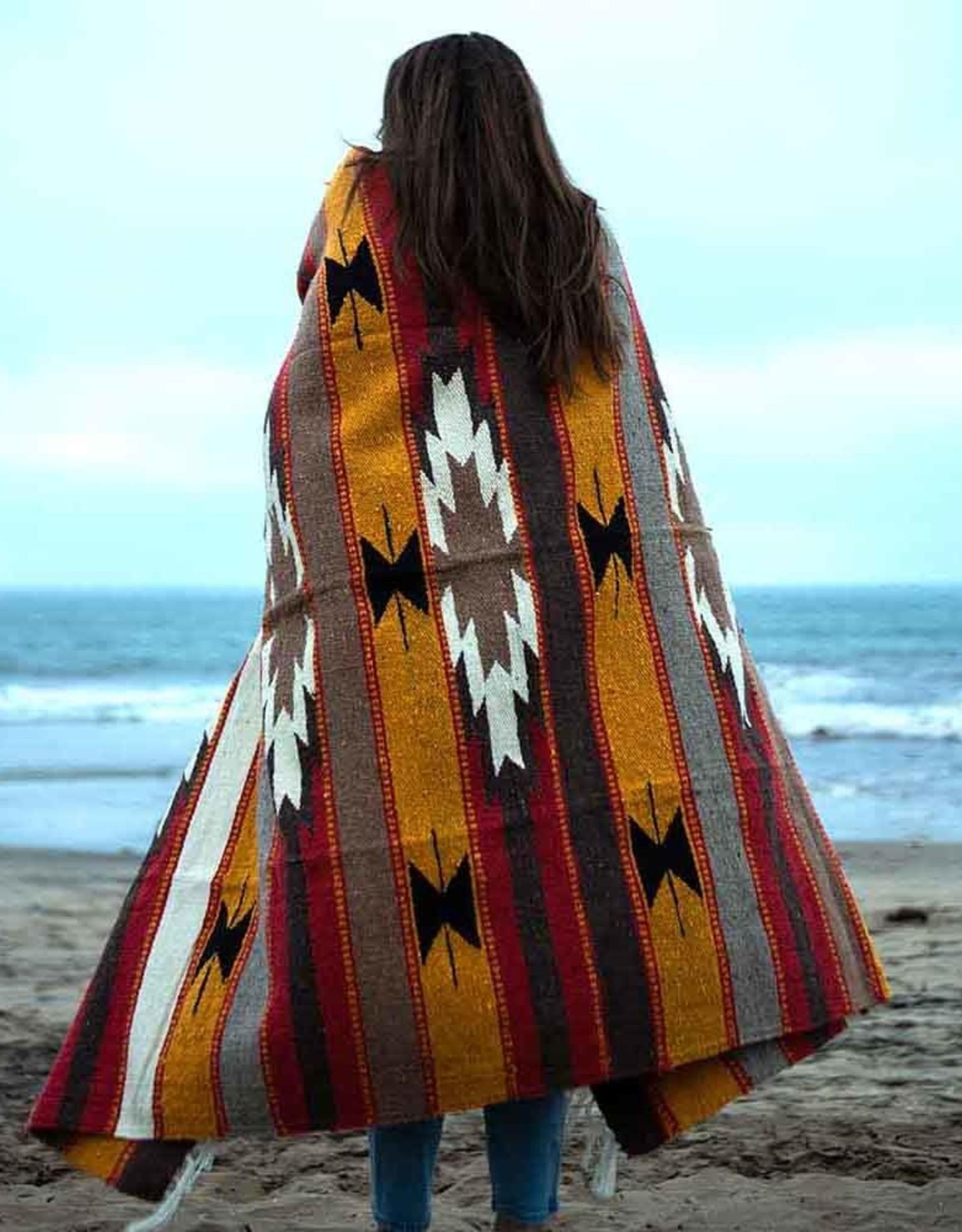 West Path Wool Diamond Serape Blanket