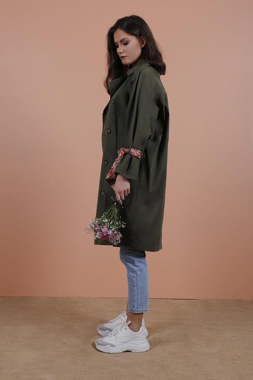 Radia Shaker Violet Trenchcoat