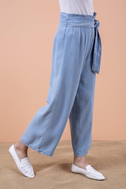Yanı Fermuarlı Bol Pantolon