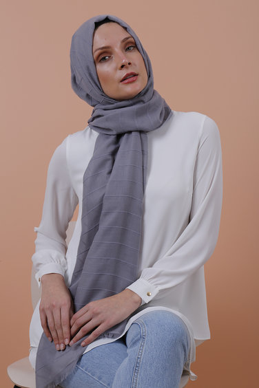 Anna Lucci Striped Shawl