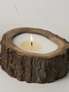 Tree Bark Candle - Small