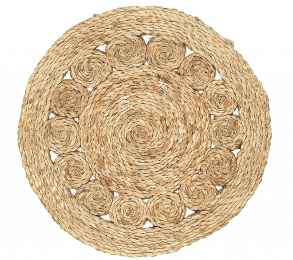 Natural Jute Round Placemat 15x15