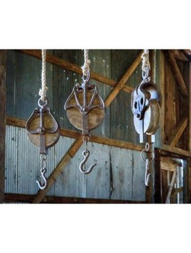 Wooden Pulley Hook