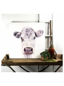 White on White Cow Painting
