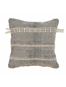 Dual Stripe Braided Pillow Natural/Black
