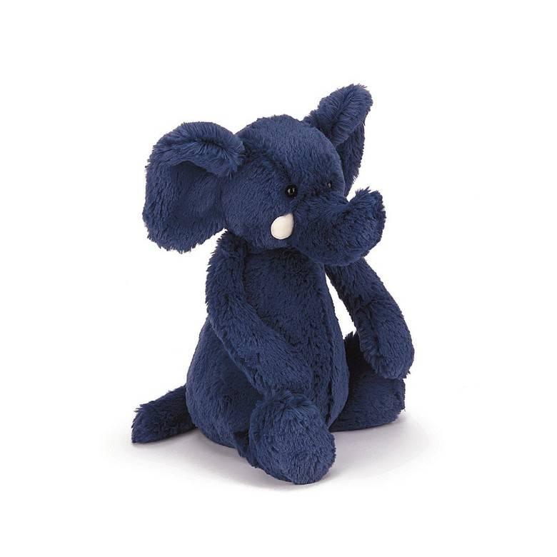 Bashful Blue Elephant- Medium