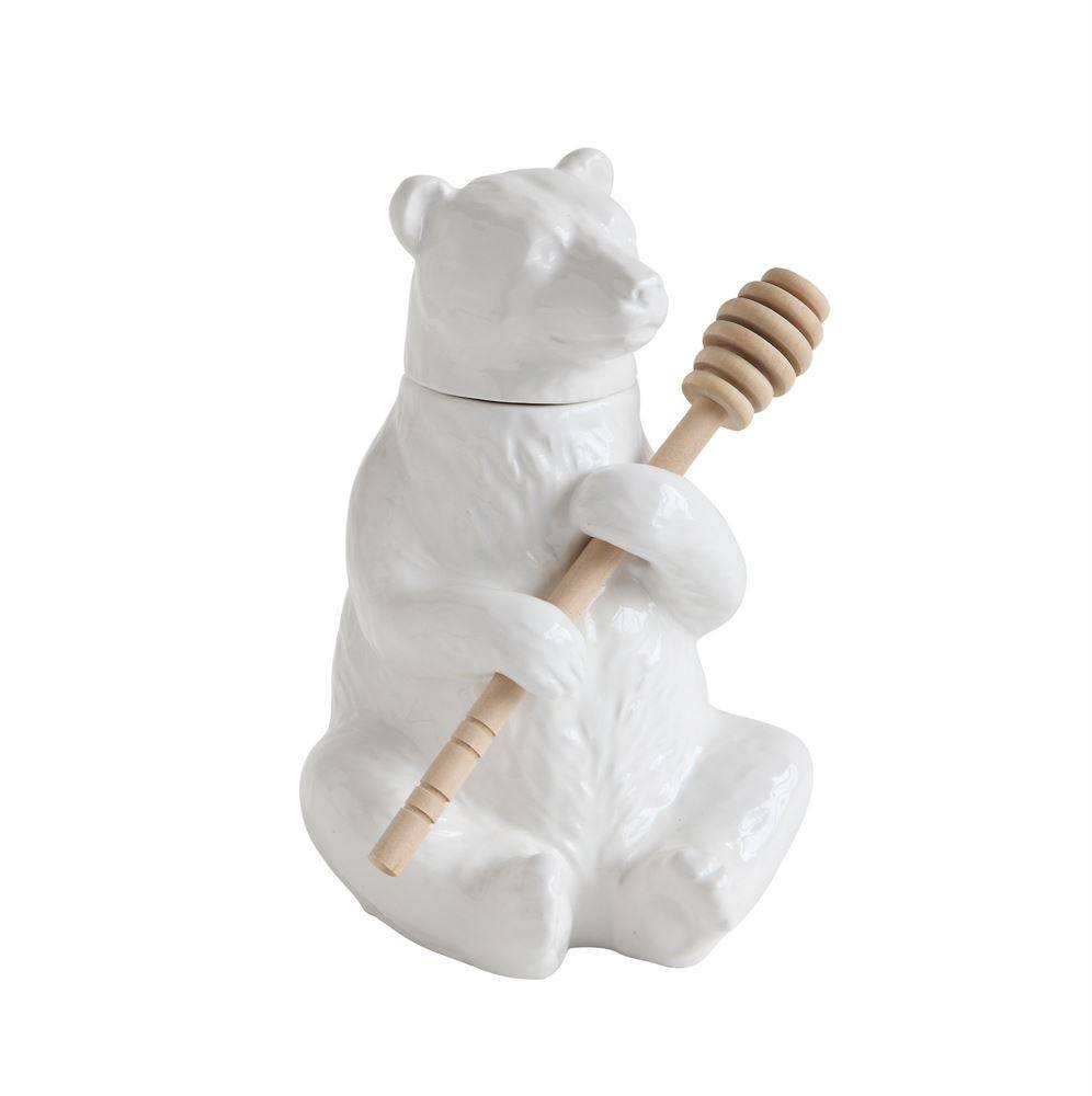 Ceramic Bear w/ Honey Comb