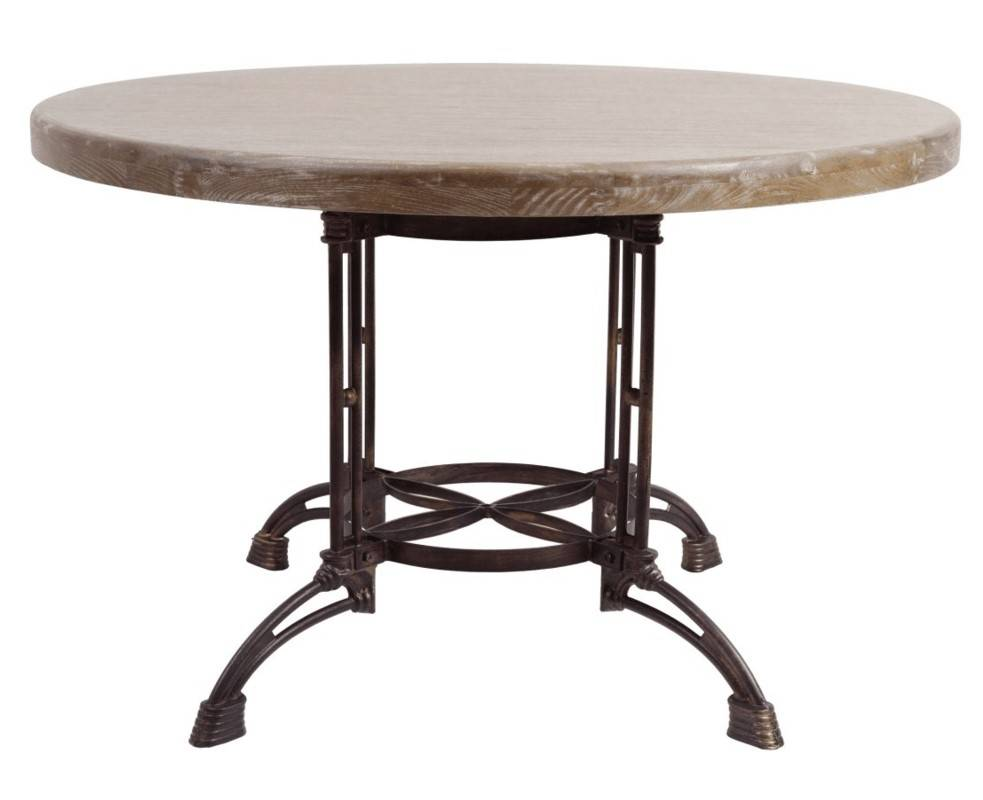 Round Metal & Wood Table