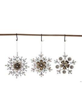 Metal Acrylic Jewel Snowflake