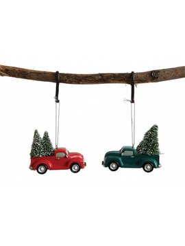 Resin Truck w/ Christmas Tree ornament